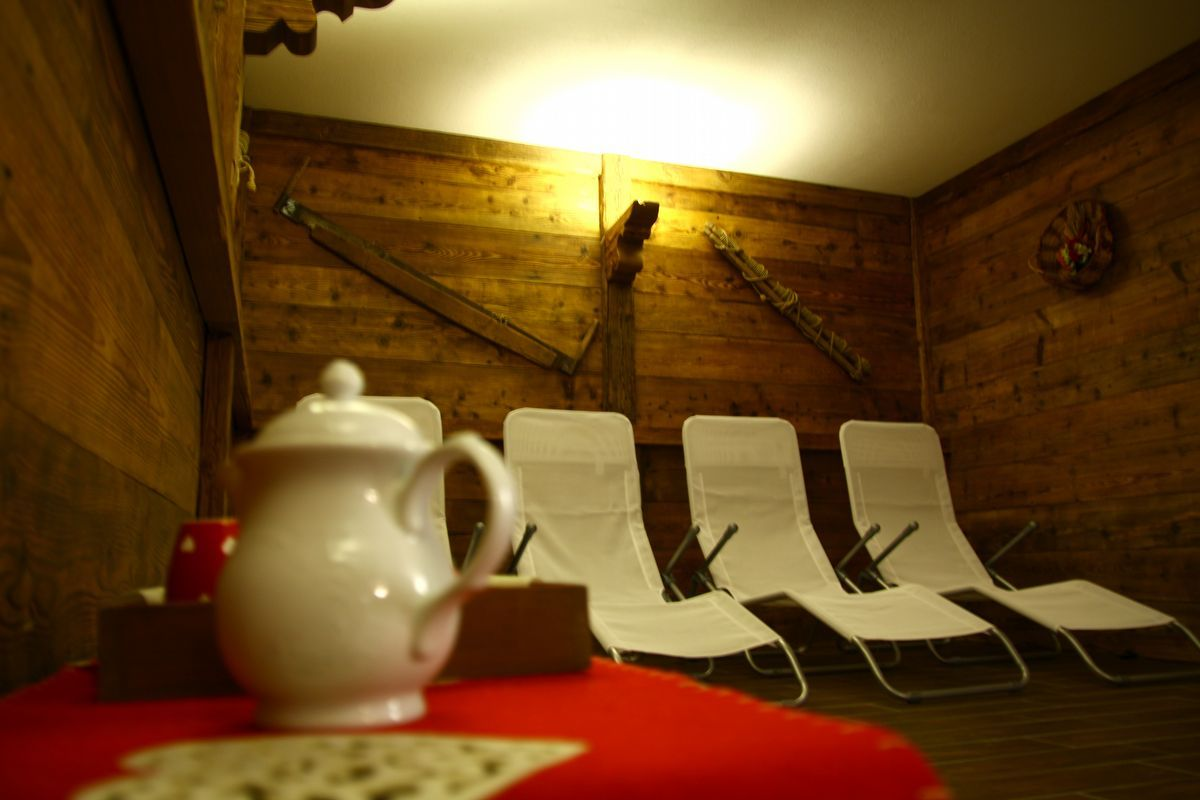 Relaxation area in the Hotel Herbetet in Cogne