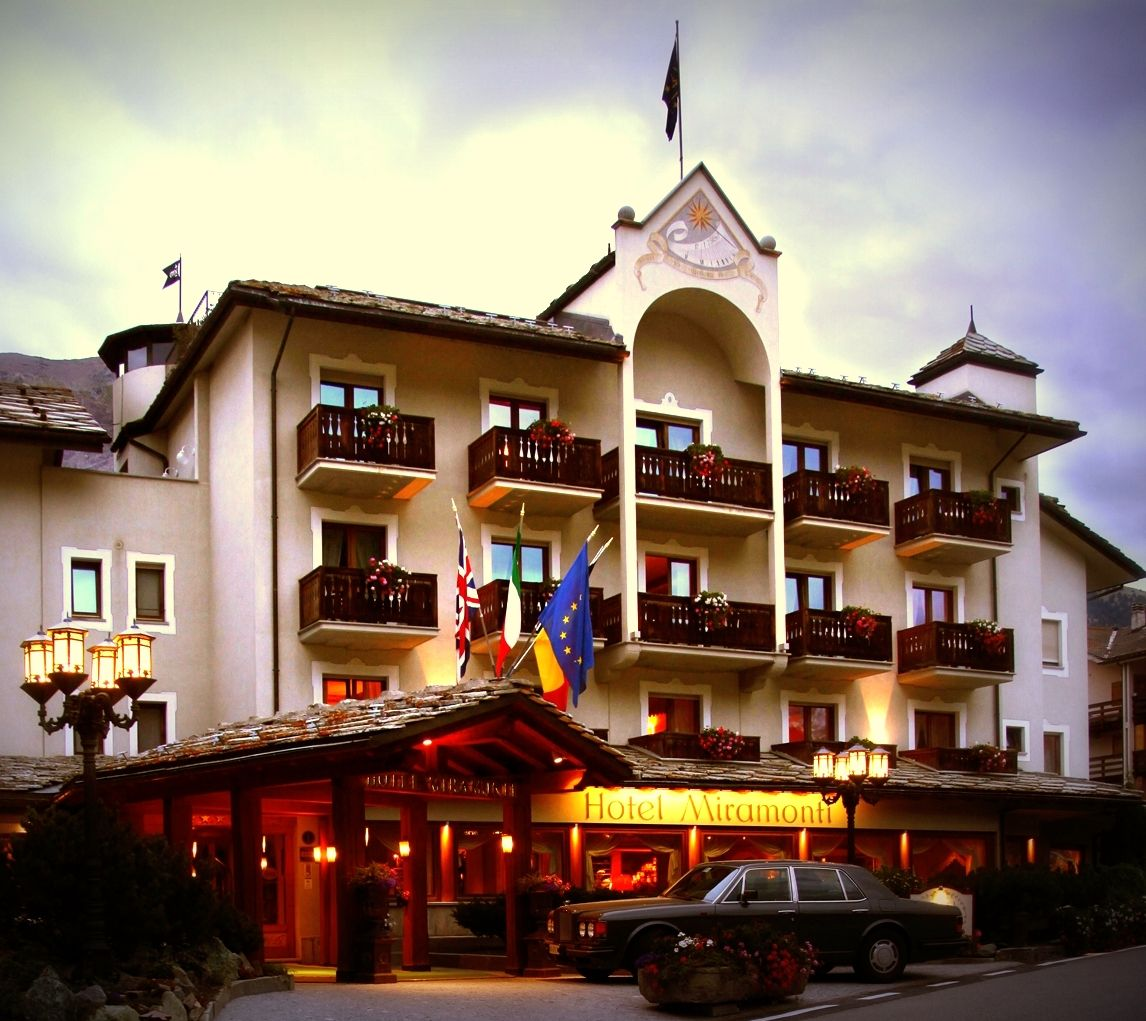 Hotel Miramonti in Cogne in summer