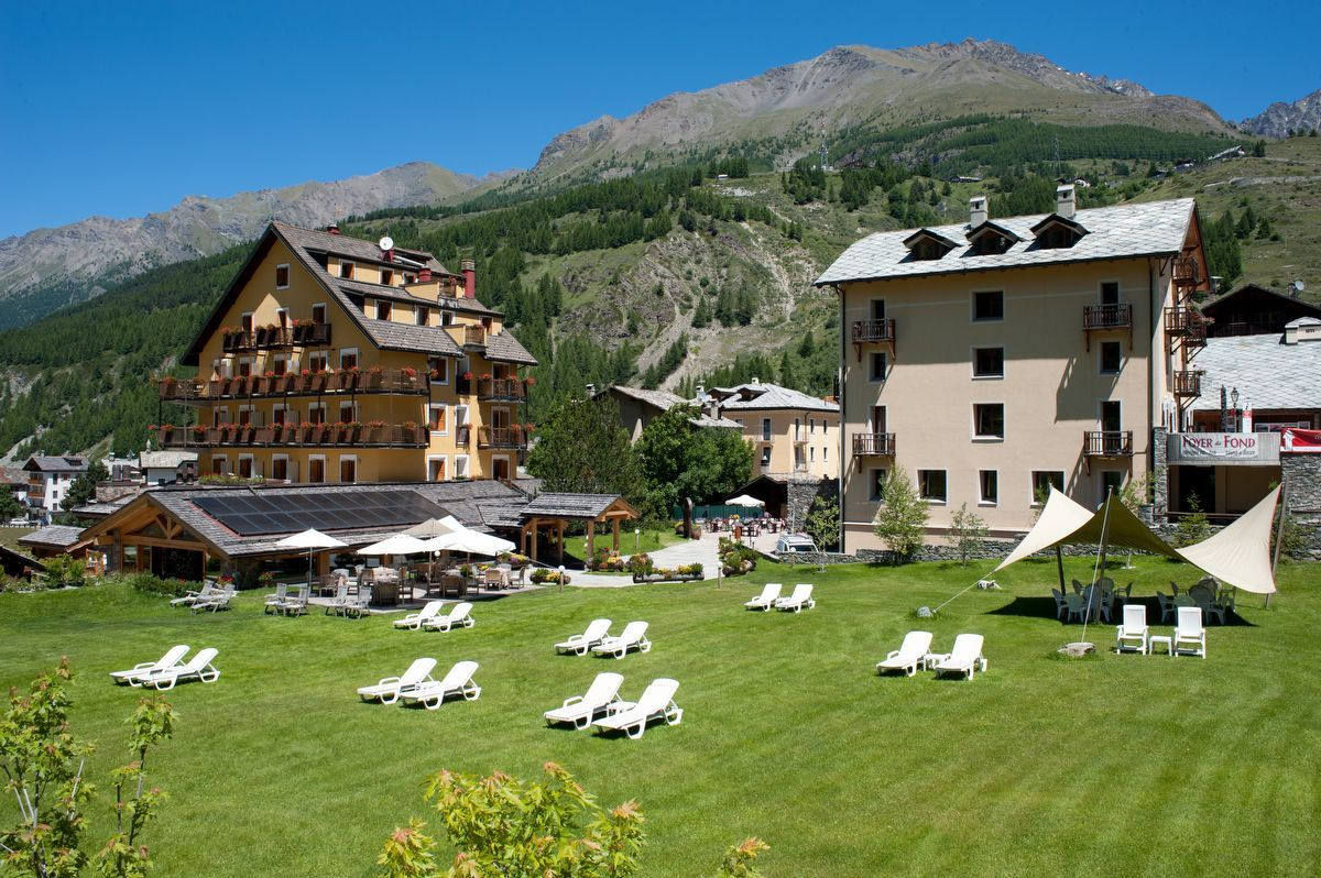 Hotel Sant'Orso in Cogne in summer