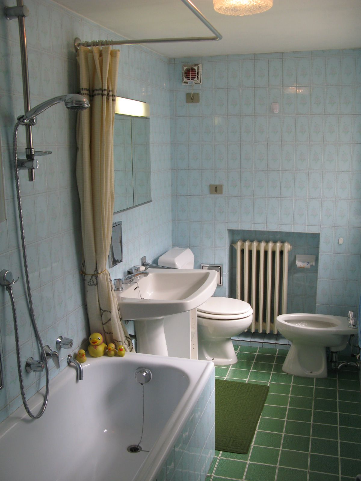 Bathroom of the apartment Meridiana in Cogne