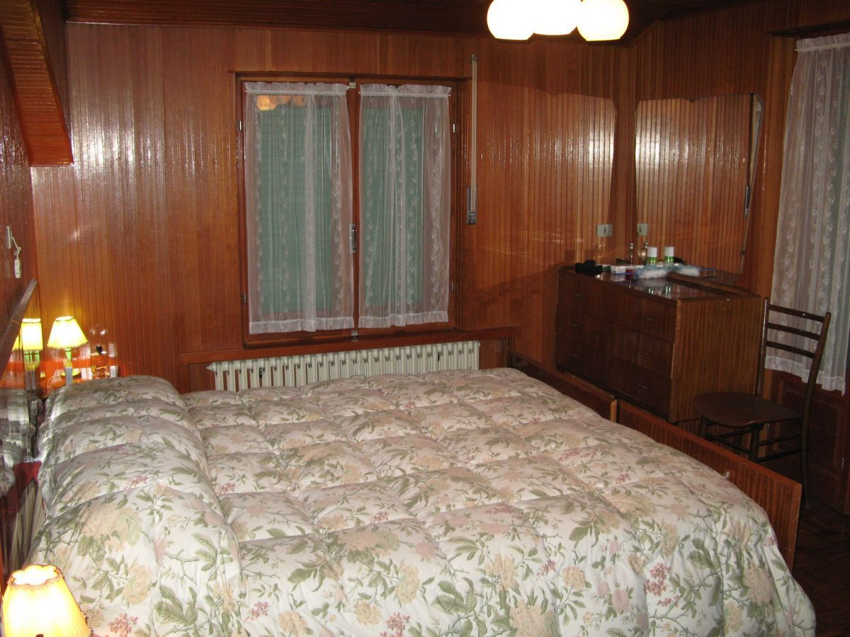 Bedroom of the apartment Meridiana in Cogne