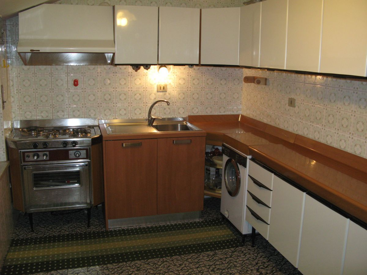 Kitchen of the apartment Meridiana in Cogne