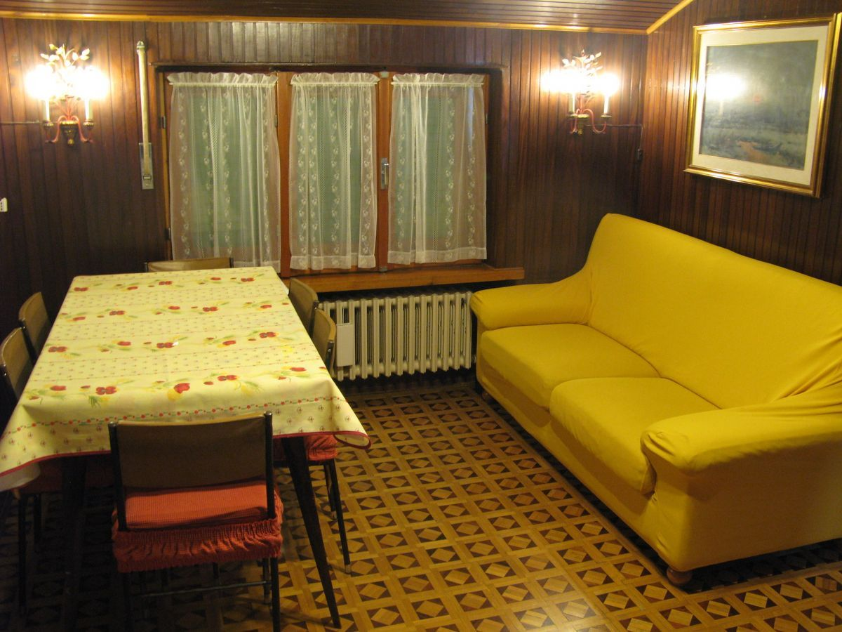 Living room of the apartment Meridiana in Cogne