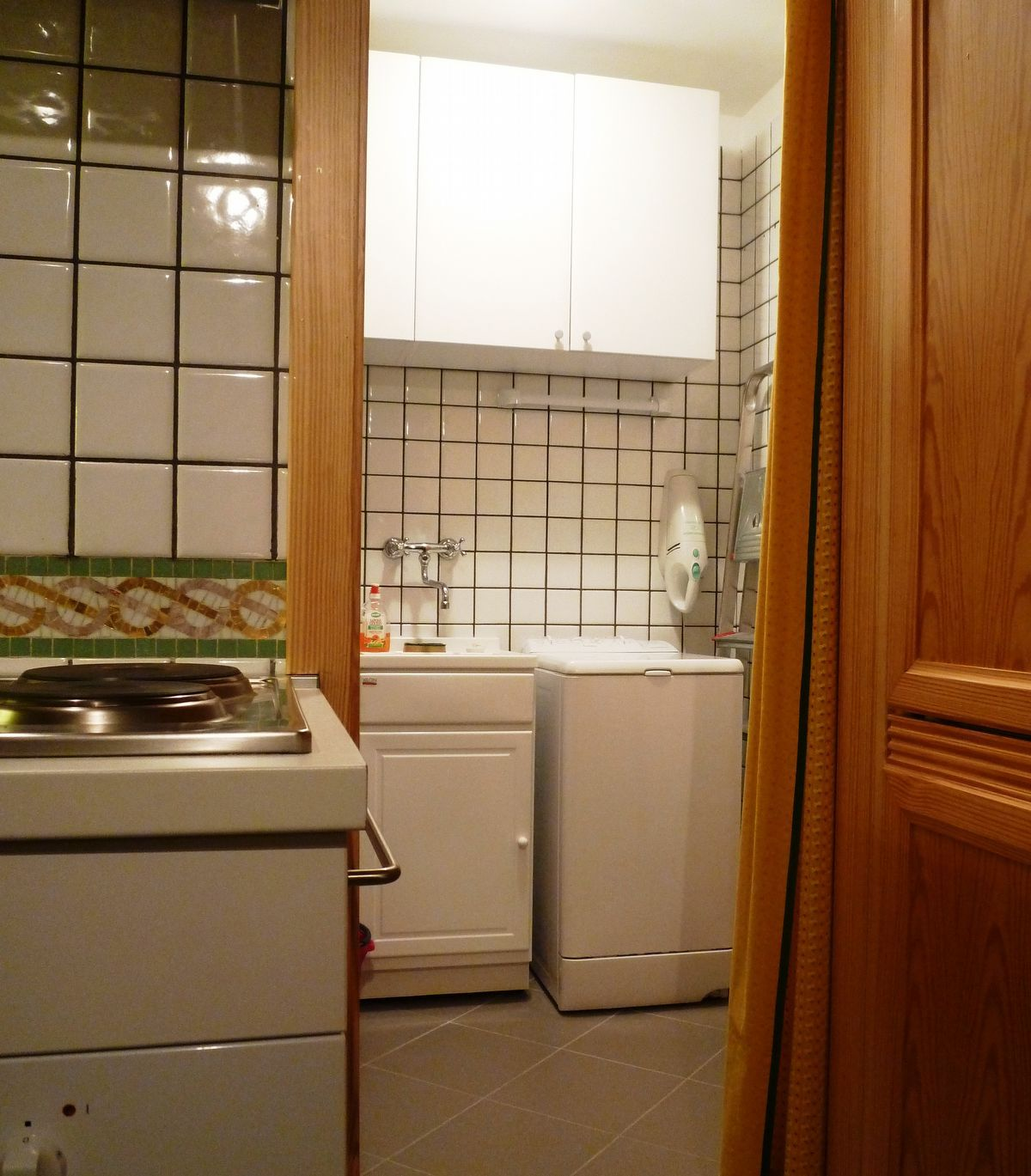 Laundry room in apartment Sylvenoire A in Cogne