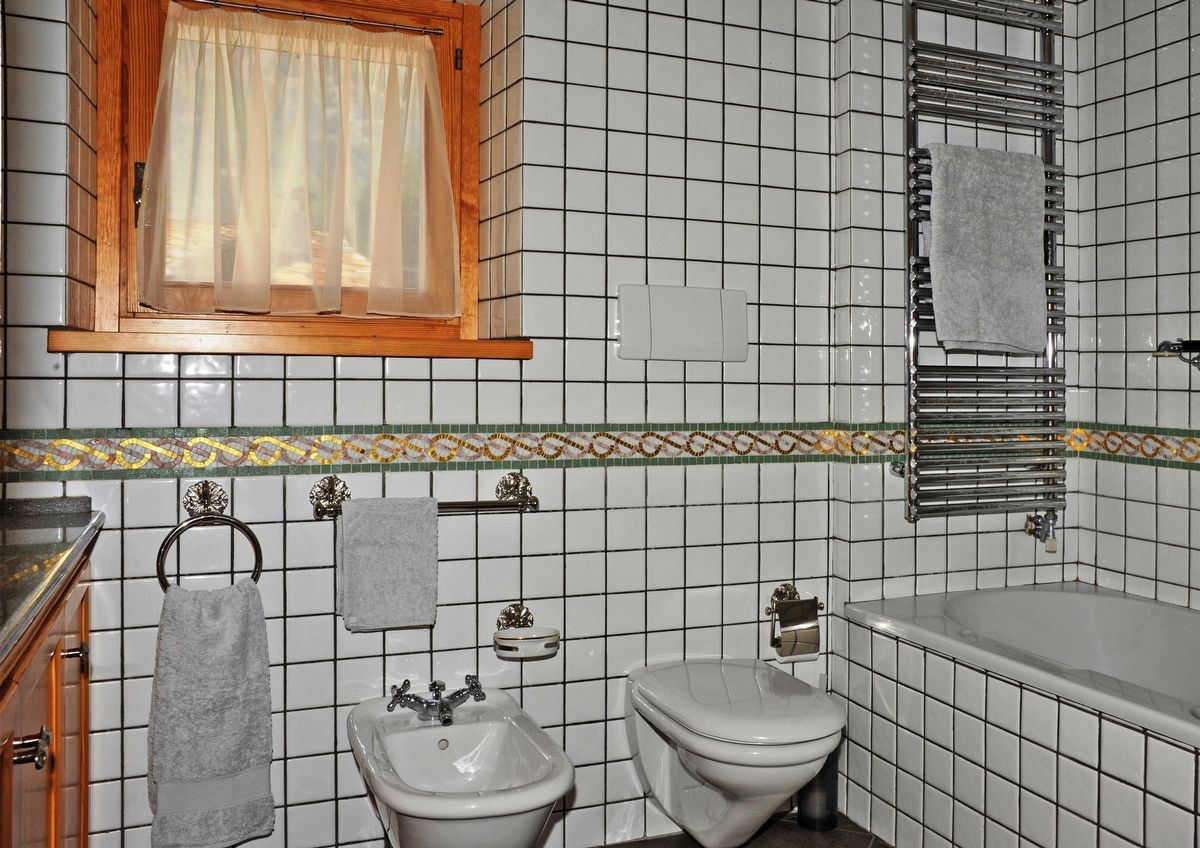 Bathroom in apartment Sylvenoire A in Cogne