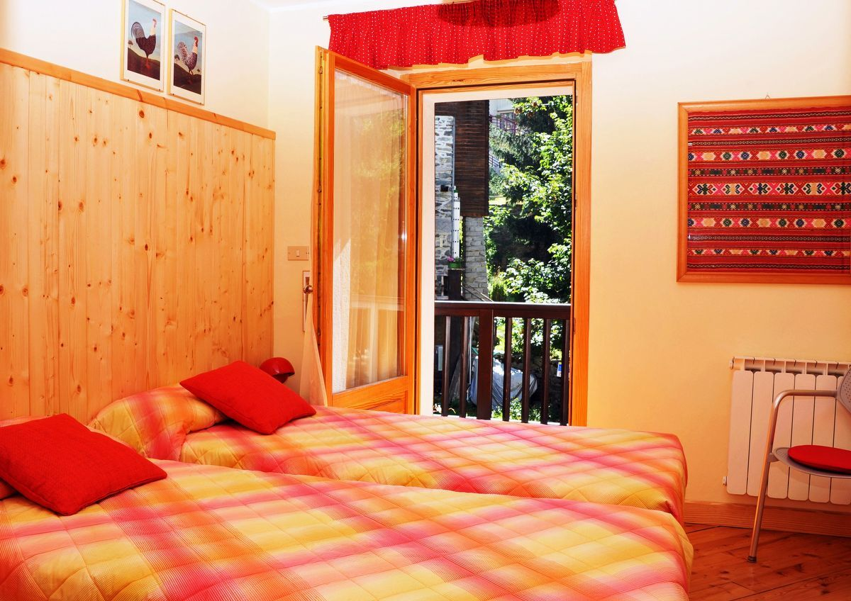 Single bedroom in the apartment Sylvenoire B in Cogne