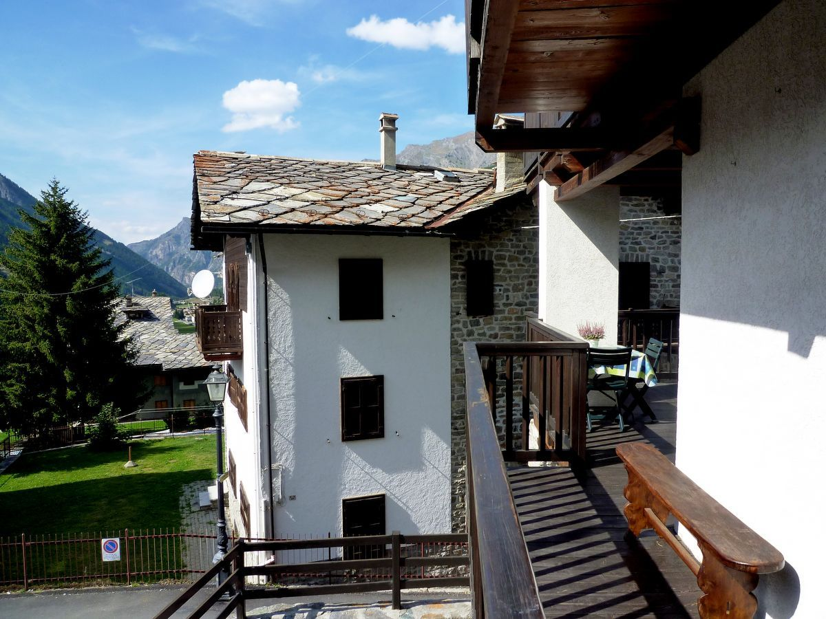 Terrace of the apartment Sylvenoire B in Cogne