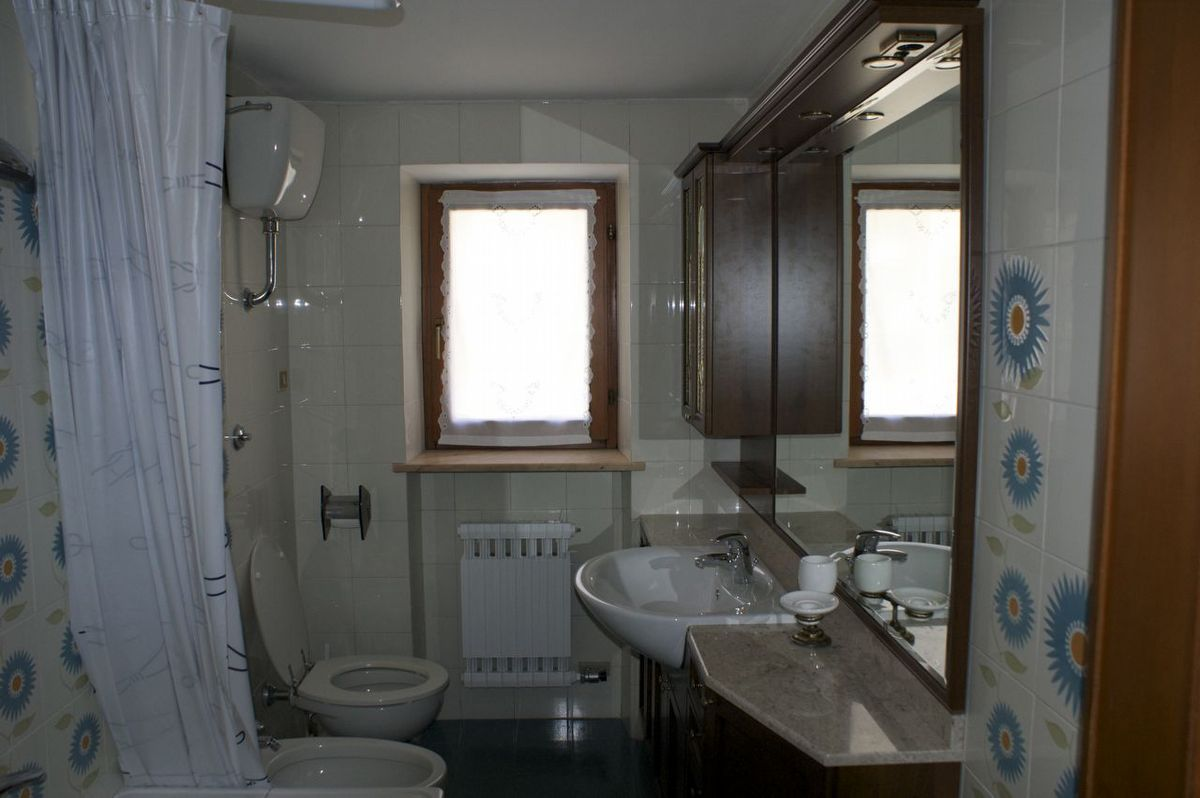 Bathroom of the apartment Bardoney in Cogne