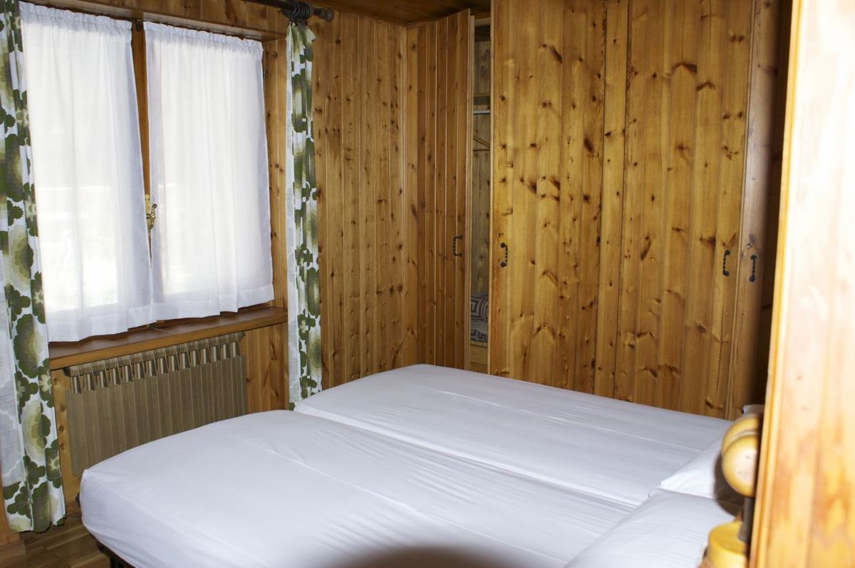 Bedroom of the apartment Bardoney in Cogne