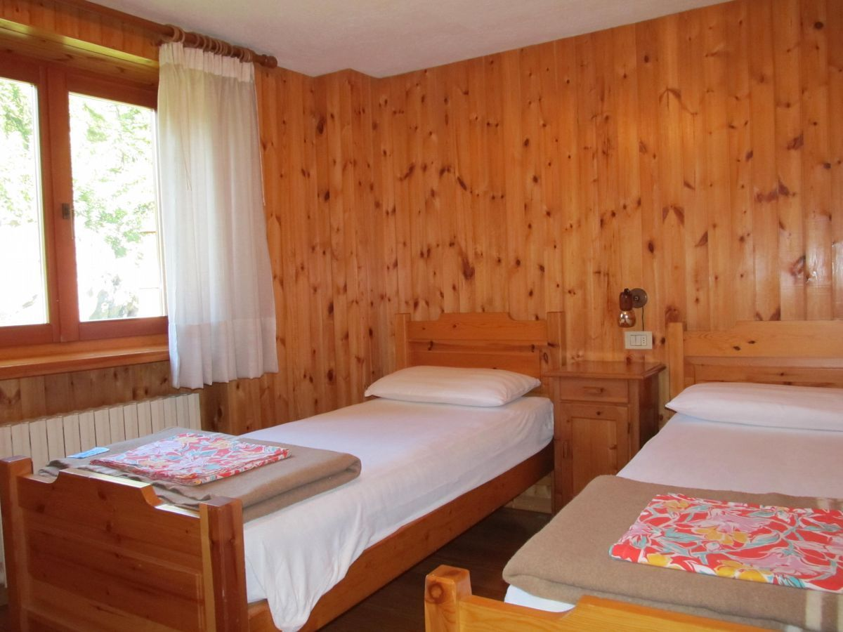 Bedroom of the apartment Meson de Germen 2 in Cogne