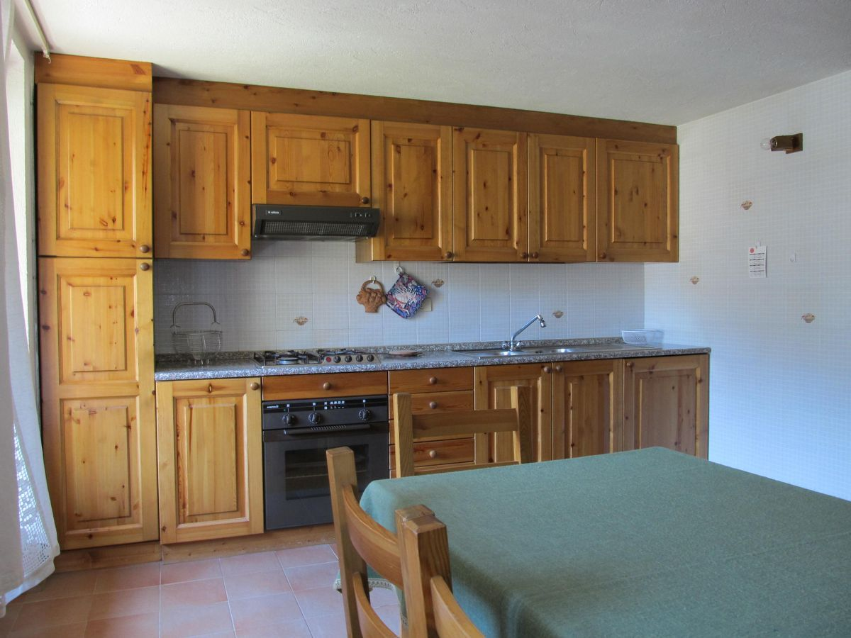 Kitchen of the apartment Meson de Germen 2 in Cogne