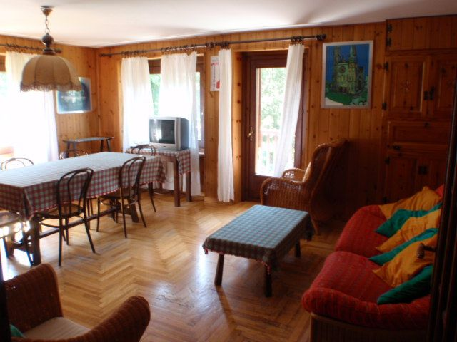 Living area in apartment Camelot in Cogne