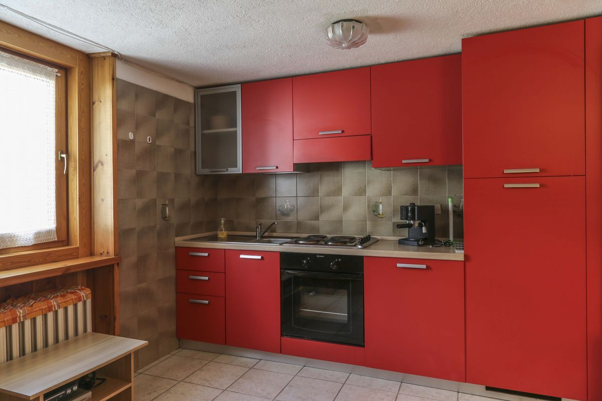 Kitchenette of the apartment Stella Alpina in Cogne