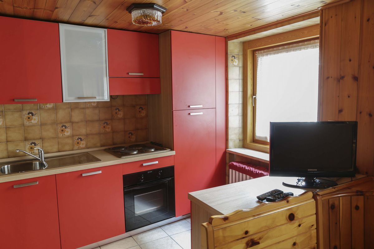 Kitchenette of the apartment Violetta in Cogne