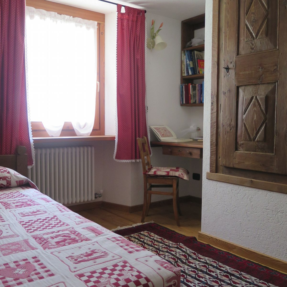 Bedroom of the apartment La Piazzetta in Cogne