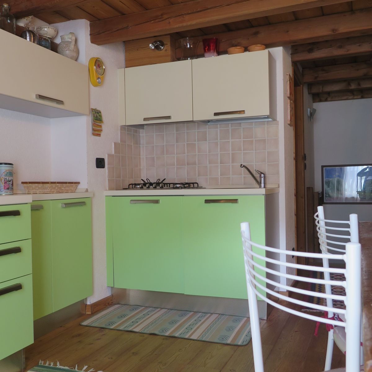 Kitchen of the apartment La Piazzetta in Cogne