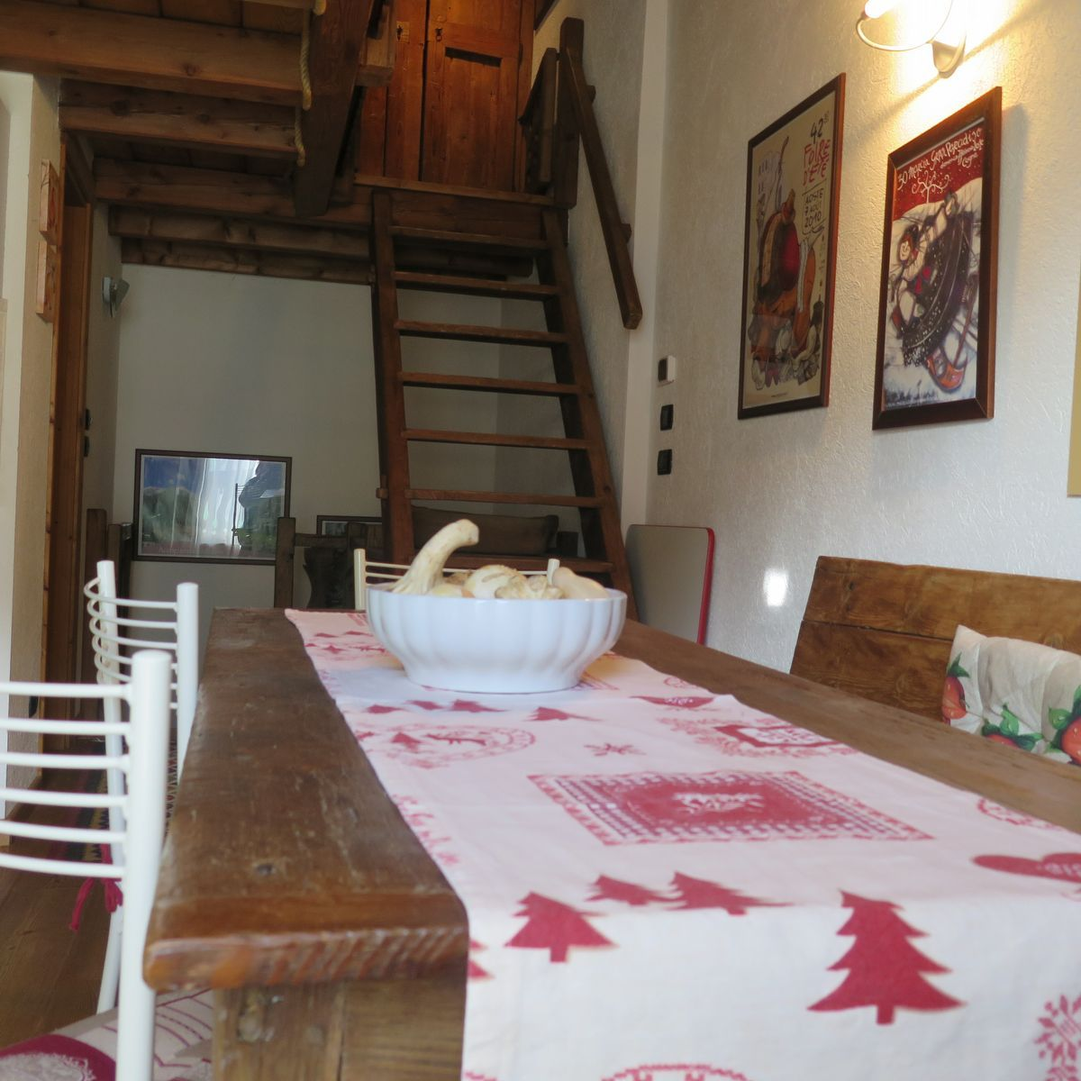 Living room of the apartment La Piazzetta in Cogne
