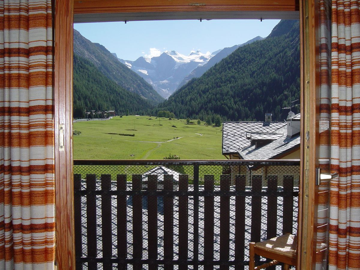 View from the apartment Les Bijoux du Grand Paradis in Cogne