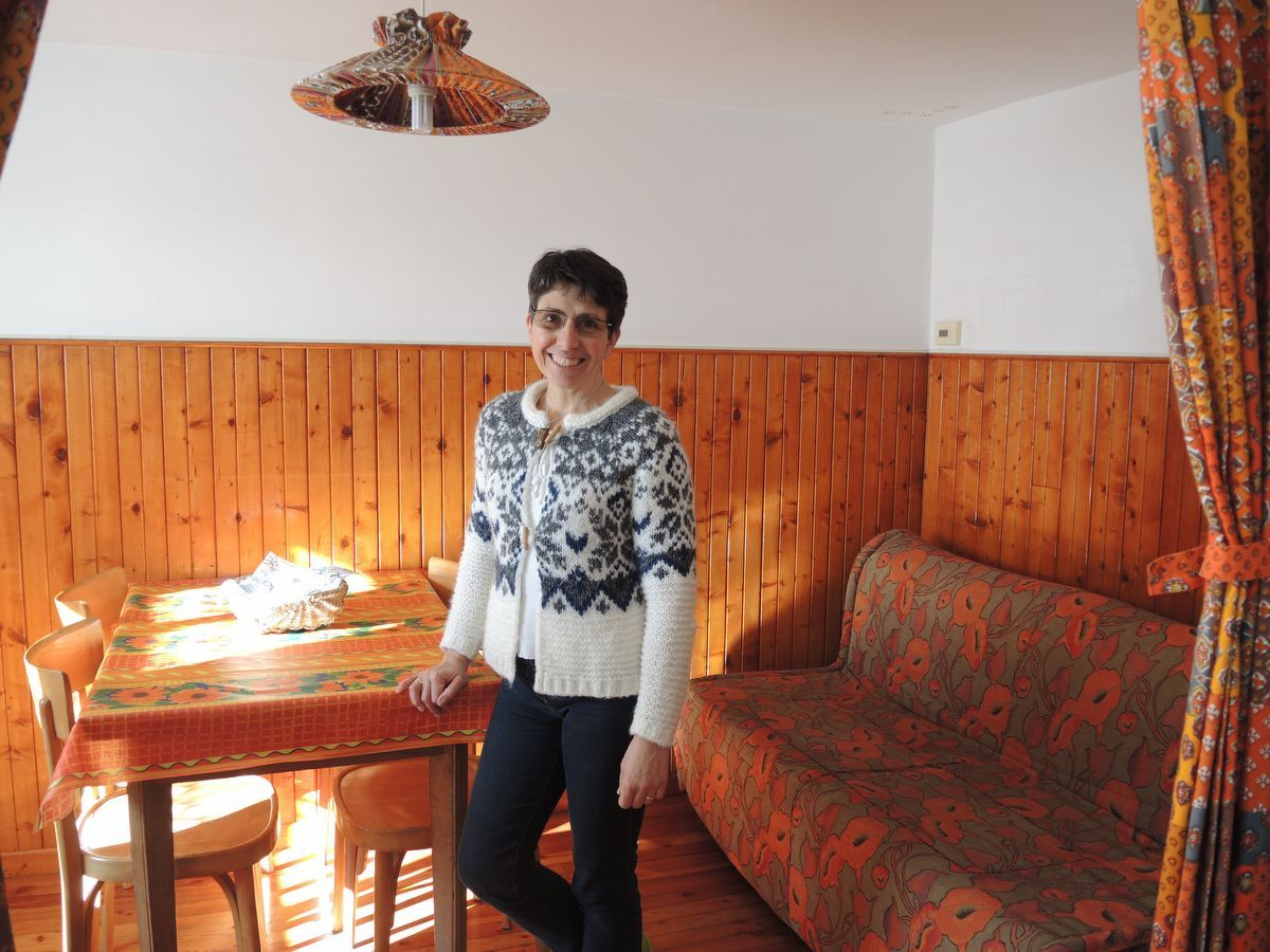 Laura, owner of the apartment La Peira in Cogne